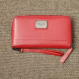 Kenneth Cole Faux Leather wristlet wallet clutch